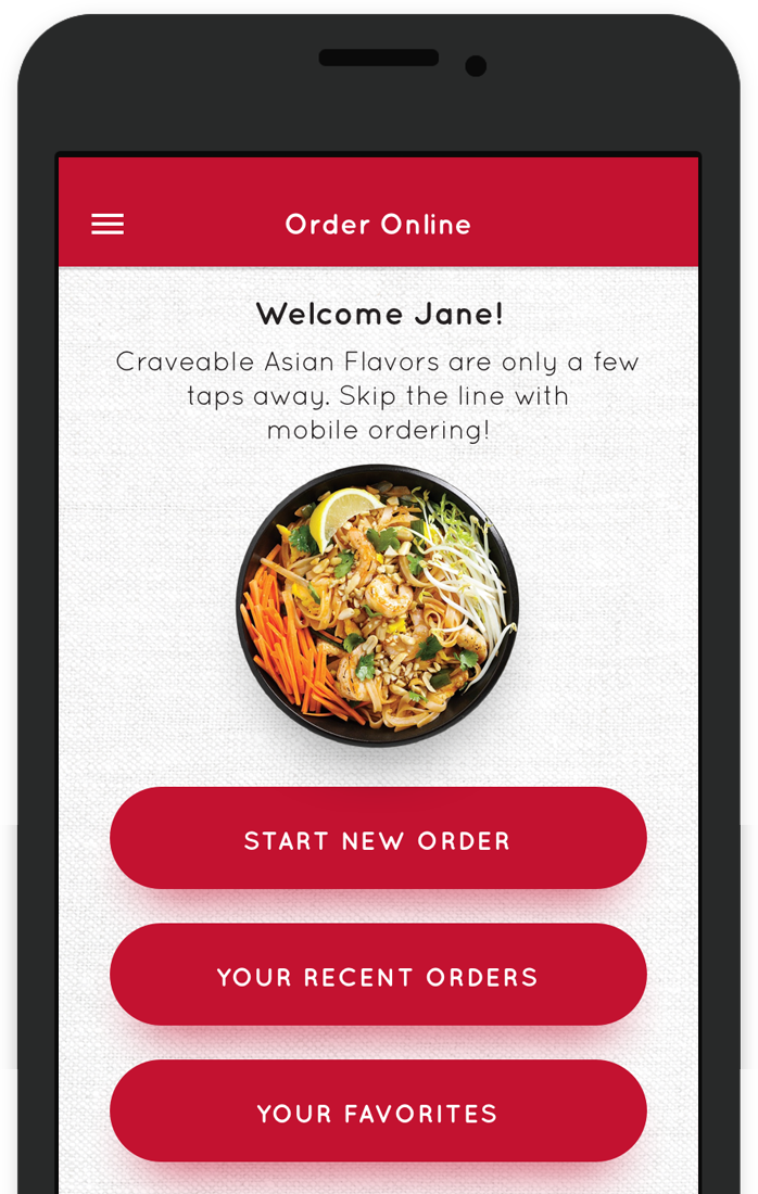 Get a FREE Entree just for downloading the Pick Up Stix Rewards App and signing up!